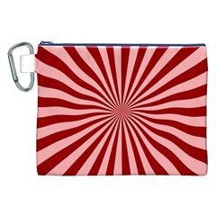 Sun Background Optics Channel Red Canvas Cosmetic Bag (xxl) by BangZart