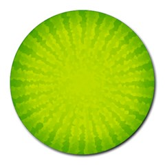 Radial Green Crystals Crystallize Round Mousepads
