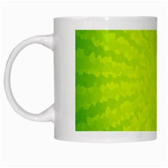 Radial Green Crystals Crystallize White Mugs