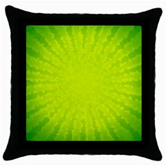 Radial Green Crystals Crystallize Throw Pillow Case (black) by BangZart