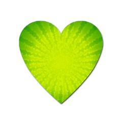 Radial Green Crystals Crystallize Heart Magnet by BangZart