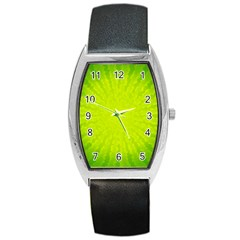 Radial Green Crystals Crystallize Barrel Style Metal Watch by BangZart