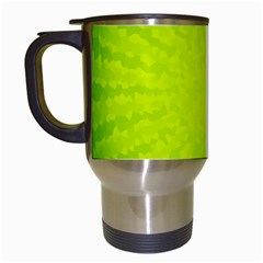 Radial Green Crystals Crystallize Travel Mugs (white)