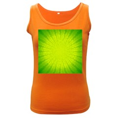 Radial Green Crystals Crystallize Women s Dark Tank Top