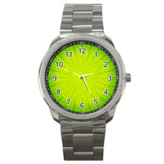 Radial Green Crystals Crystallize Sport Metal Watch by BangZart