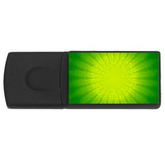 Radial Green Crystals Crystallize Usb Flash Drive Rectangular (4 Gb) by BangZart