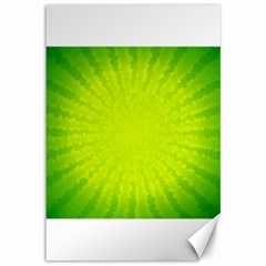 Radial Green Crystals Crystallize Canvas 12  X 18   by BangZart