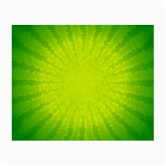Radial Green Crystals Crystallize Small Glasses Cloth (2 Side)