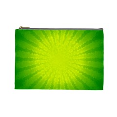 Radial Green Crystals Crystallize Cosmetic Bag (large)  by BangZart