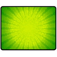 Radial Green Crystals Crystallize Fleece Blanket (medium)