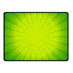 Radial Green Crystals Crystallize Fleece Blanket (small)