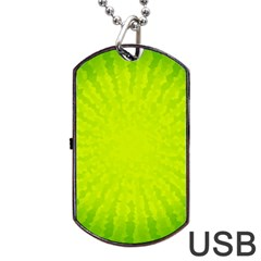 Radial Green Crystals Crystallize Dog Tag Usb Flash (one Side) by BangZart