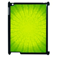 Radial Green Crystals Crystallize Apple Ipad 2 Case (black)