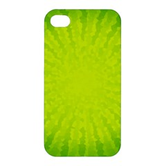 Radial Green Crystals Crystallize Apple Iphone 4/4s Hardshell Case by BangZart