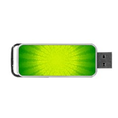 Radial Green Crystals Crystallize Portable Usb Flash (one Side) by BangZart
