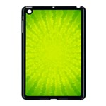 Radial Green Crystals Crystallize Apple iPad Mini Case (Black) Front
