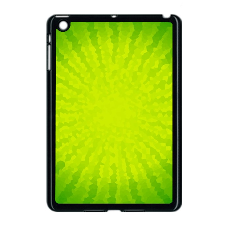 Radial Green Crystals Crystallize Apple iPad Mini Case (Black)