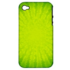 Radial Green Crystals Crystallize Apple Iphone 4/4s Hardshell Case (pc+silicone)