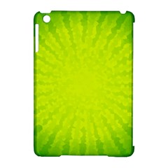 Radial Green Crystals Crystallize Apple Ipad Mini Hardshell Case (compatible With Smart Cover) by BangZart