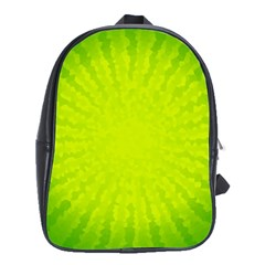 Radial Green Crystals Crystallize School Bags (xl)  by BangZart