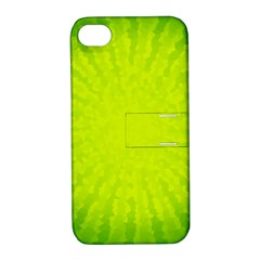 Radial Green Crystals Crystallize Apple Iphone 4/4s Hardshell Case With Stand by BangZart
