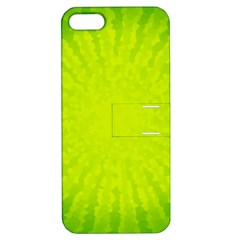 Radial Green Crystals Crystallize Apple Iphone 5 Hardshell Case With Stand by BangZart