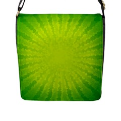 Radial Green Crystals Crystallize Flap Messenger Bag (l)  by BangZart