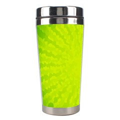 Radial Green Crystals Crystallize Stainless Steel Travel Tumblers by BangZart