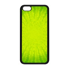 Radial Green Crystals Crystallize Apple Iphone 5c Seamless Case (black) by BangZart