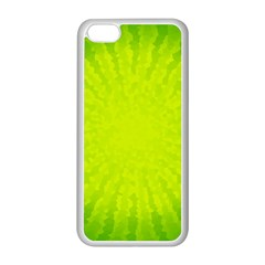Radial Green Crystals Crystallize Apple Iphone 5c Seamless Case (white) by BangZart