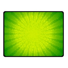 Radial Green Crystals Crystallize Double Sided Fleece Blanket (small)  by BangZart