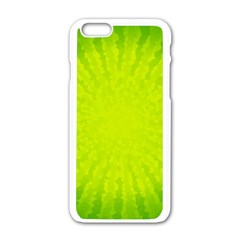Radial Green Crystals Crystallize Apple Iphone 6/6s White Enamel Case by BangZart