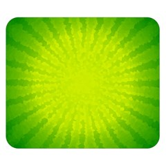 Radial Green Crystals Crystallize Double Sided Flano Blanket (small)