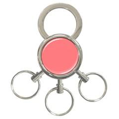 Christmas Red Velvet Mini Gingham Check Plaid 3 Ring Key Chains by PodArtist