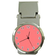 Christmas Red Velvet Mini Gingham Check Plaid Money Clip Watches by PodArtist