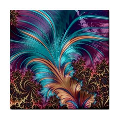 Feather Fractal Artistic Design Tile Coasters by BangZart