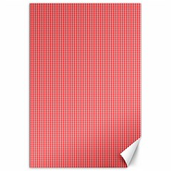Christmas Red Velvet Mini Gingham Check Plaid Canvas 20  X 30   by PodArtist