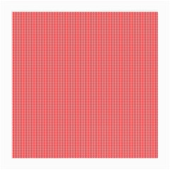 Christmas Red Velvet Mini Gingham Check Plaid Medium Glasses Cloth (2 Side) by PodArtist