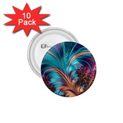 Feather Fractal Artistic Design 1 75  Buttons (10 Pack) by BangZart