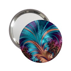 Feather Fractal Artistic Design 2 25  Handbag Mirrors by BangZart