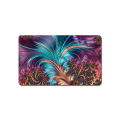 Feather Fractal Artistic Design Magnet (name Card) by BangZart