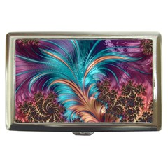 Feather Fractal Artistic Design Cigarette Money Cases