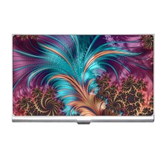 Feather Fractal Artistic Design Business Card Holders