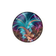 Feather Fractal Artistic Design Hat Clip Ball Marker by BangZart