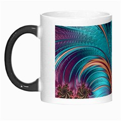 Feather Fractal Artistic Design Morph Mugs by BangZart