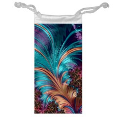Feather Fractal Artistic Design Jewelry Bag