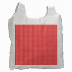 Christmas Red Velvet Mini Gingham Check Plaid Recycle Bag (two Side)  by PodArtist