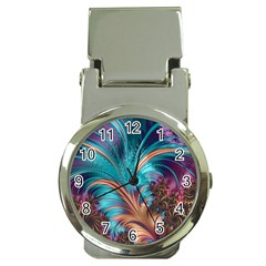 Feather Fractal Artistic Design Money Clip Watches by BangZart
