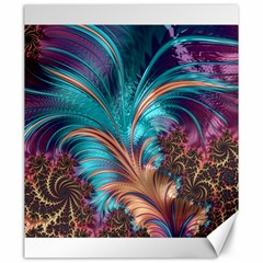 Feather Fractal Artistic Design Canvas 20  X 24   by BangZart