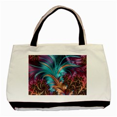 Feather Fractal Artistic Design Basic Tote Bag (two Sides)
